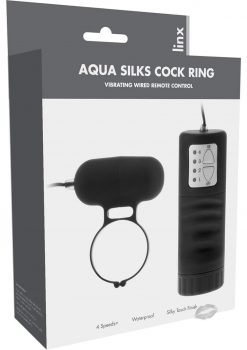 Linxs Aqua Silks Cock Ring Waterproof Black