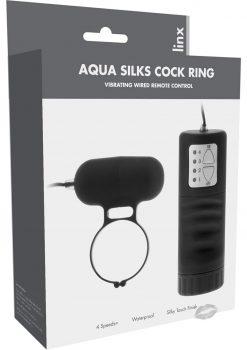 Linxs Aqua Silks Cock Ring Waterproof Black