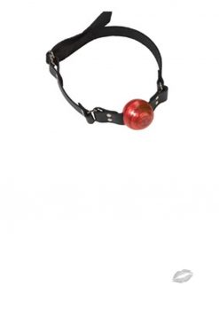 Small Ball Gag With D Ring 1.5 Inch Red