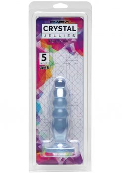 Crystal Jellies Anal Delight Probe Sil A Gel 5 Inch Clear