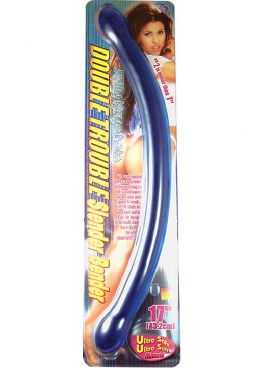 Double Trouble Slender Bender 17 Inch Blue