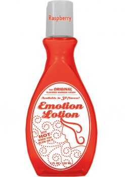 Emotion Lotion Flavored Water Based Warming Lotion Raspberry 4 Ounce