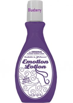 Emotion Lotion Flavored Water Based Warming Lotion Blueberry 4 Ounce