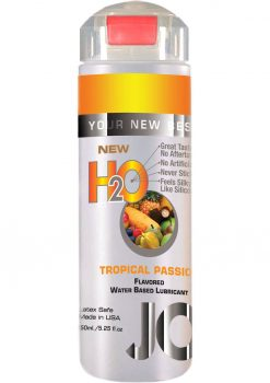 Jo H2O Flavored Water Based Lubricant Tropical Passion 4 Ounce