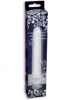 White Nights Velvet Touch Vibrator Waterproof 7 Inch White