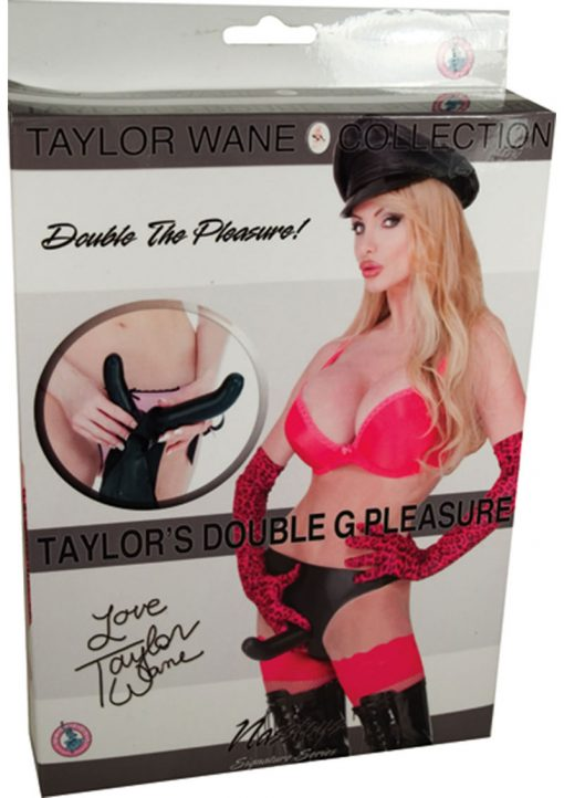Taylor Wane Double G Pleasure Strap On Waterproof Black