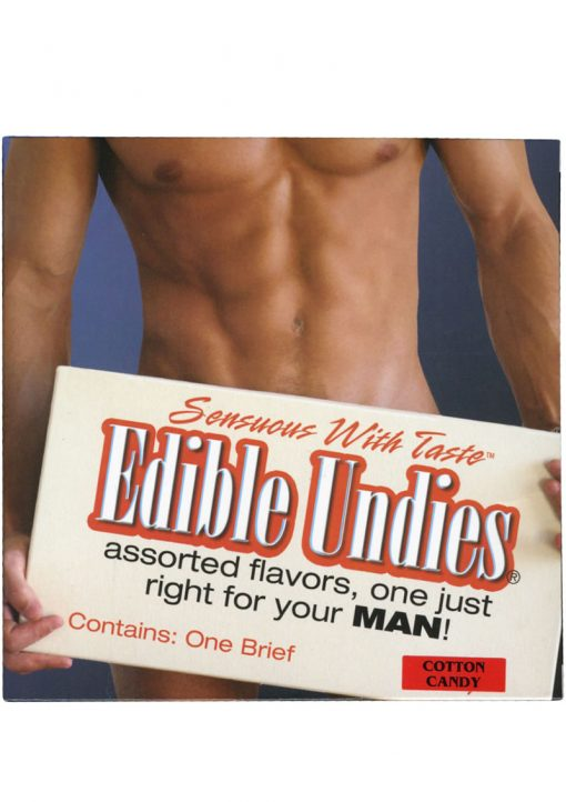 Sensuous With Taste Edible Undies Male Cotton Candy