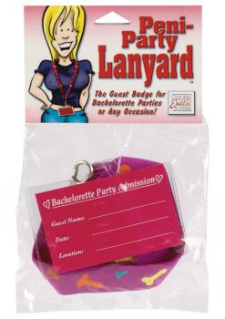Peni Party Lanyard Guest Badge Pink