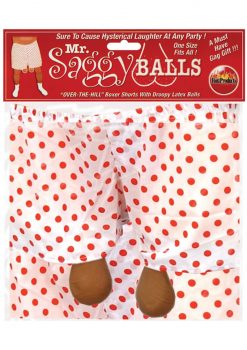 Mr Saggy Balls Over The Hill Boxers With Droopy Latex Balls