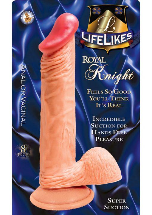 Lifelikes Royal Knight Dildo 8 Inch Flesh