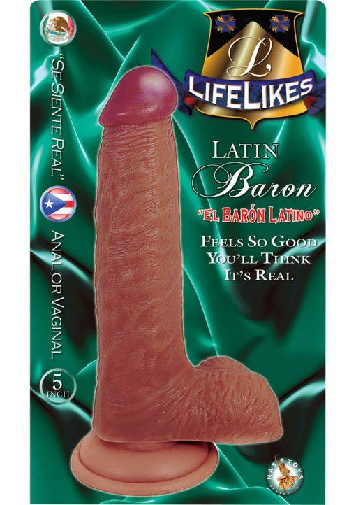 Lifelikes Latin Baron Dildo 5 Inch Flesh