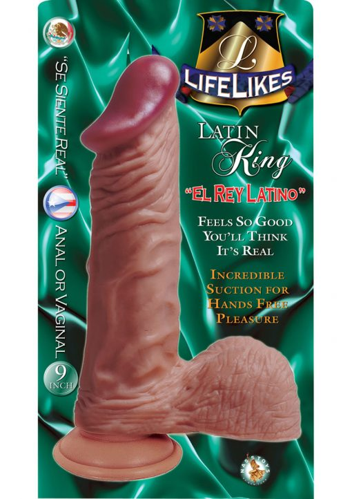 Lifelikes Latin King Dildo 9 Inch Flesh