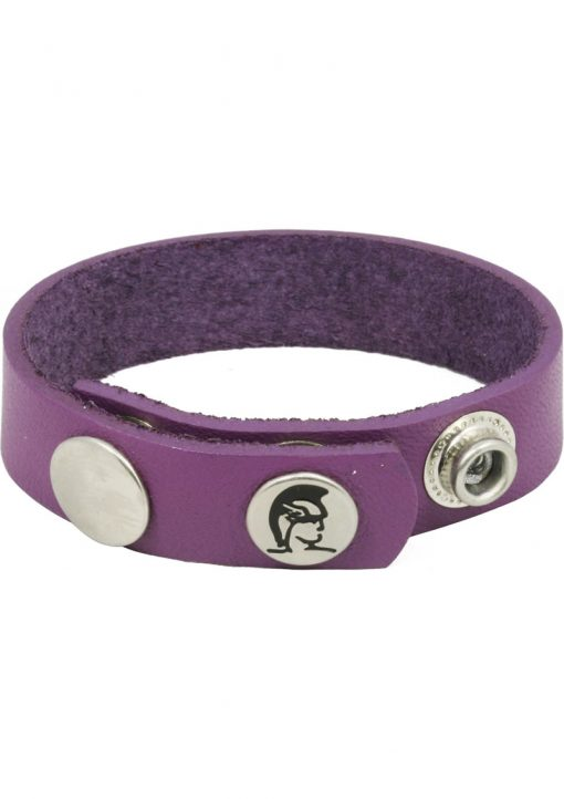 Crave Oiltan Cock Ring Leather Purple