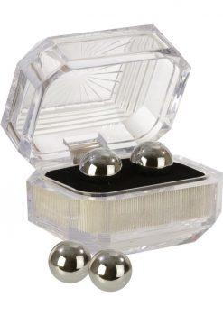 Silver Balls In Presentation Box Multiuse Weighted Pleasure Balls
