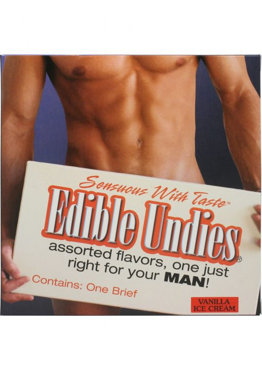 Sensuous With Taste Edible Undies Male Vanilla Ice Cream