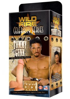 Wildfire Celebrity Tommy Gunn Cyberskin Cock Dildo Waterproof 9 Inch Natural