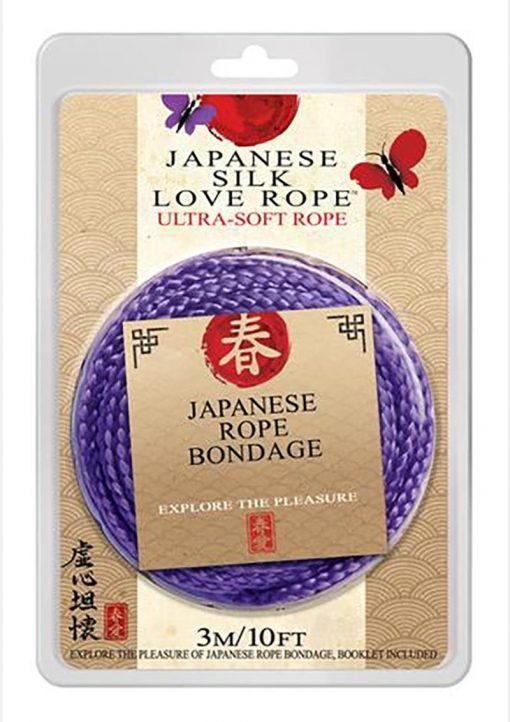 Japanese Silk Love Rope 10 Feet Purple