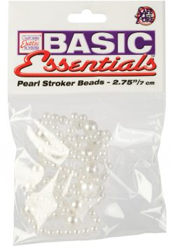 Basic Essentials Pear Stroker Beads Large 2.75 Inch White