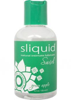 Sliquid Swirl Flavored Water Based Lubricant Green Apple Tart 4.2 Ounce