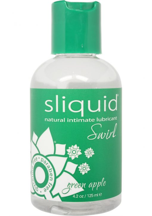 Sliquid Swirl Flavored Water Based Lubricant Green Apple Tart 4.2 Ounce