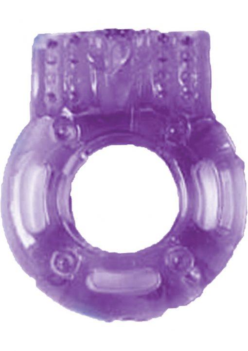 The Macho Vibrating Cockring Purple