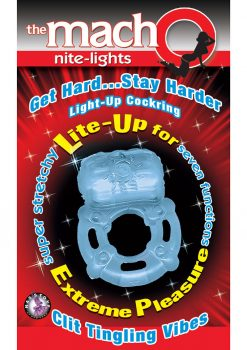 The Macho Nite Lights Clit Tingling Vibes 7 Function Blue
