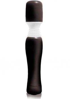 Maxi Wanachi Silicone Massager Waterproof 9 Inch  Black