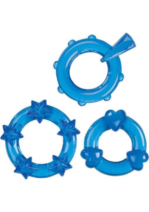 Magic C Rings Set Of 3 Blue