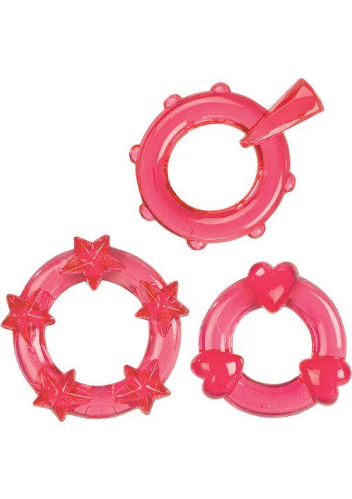 Magic C Rings Set Of 3 Red