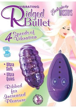 Vibrating Riged Bullet 4 Speed Waterproof 3 Inch Purple