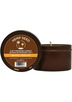 Hemp Seed 3 In 1 Massage Candle 100% Vegan Dreamsicle 6 Ounce