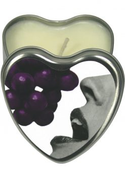 Edible Candle Heart Massage Oil Candle Grape 4 Ounce