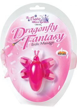 The Erotic Water Garden Collection Dragonfly Fantasy Erotic Massager Pink