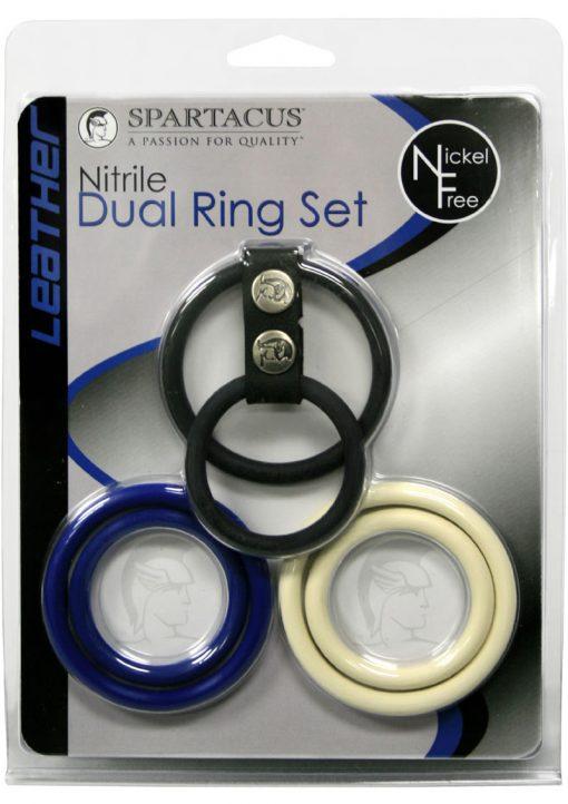 Nitrile Three Color Dual Ring Set