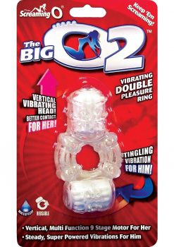 The Big O 2 Vibrating Double Pleasure Ring Assorted Colors