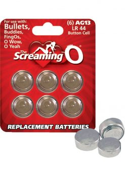 Screaming O Batteries AG13 LR44 Button Cell 6 Pack