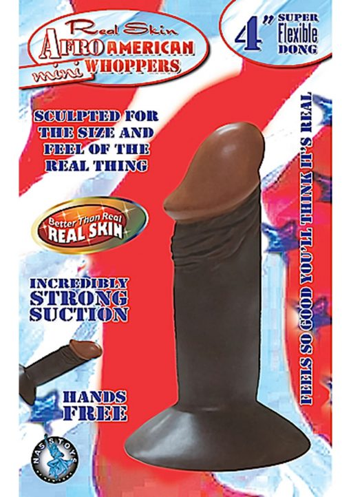 Real Skin Afro American Mini Whoppers Dong 4 Inch Brown