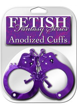 Fetish Fantasy Anodized Cuffs Purple