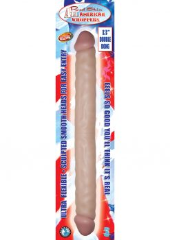 Real Skin All American Whoppers Double Dong 13 Inch Waterproof Flesh