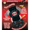 The Macho Ultimate Ring Double Power Cock And Ball Ring Clitoral And Testicular Stimulator Black