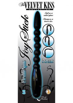 The Velvet Kiss Collection Joy Stick With Flexible Spine Waterproof 7 Inch Black