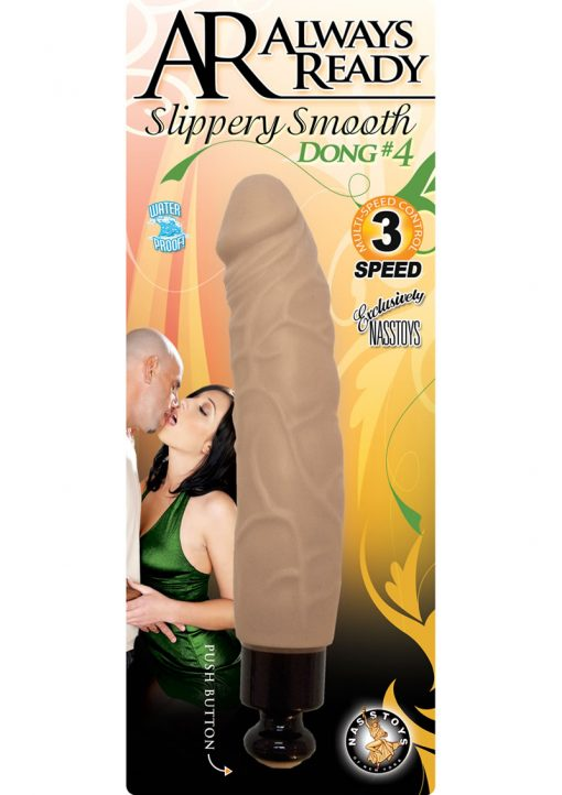 Always Ready Slippery Smooth Dong Number 4 Waterproof Flesh 6 Inch