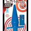 Power Butt Plug With Remote Control Waterproof 5 Inch Blue
