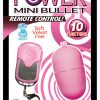 Power Mini Bullet Remote Control Waterproof 2.25 Inch Pink