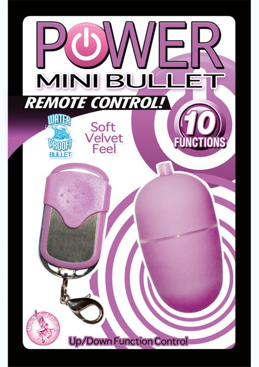 Power Mini Bullet With Remote Control Waterproof 2.25 Inch Purple