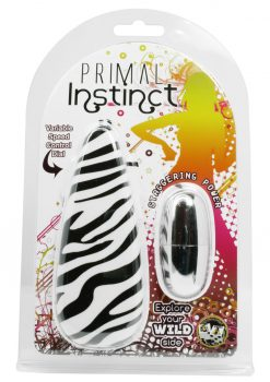 Primal Instinct Bullet With Zebra Remote