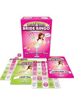 Drink And Dare Bride Bingo Card Game