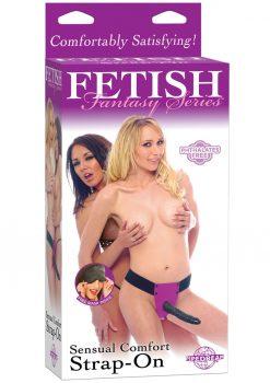 Fetish Fantasy Sensual Comfort Strap On 8 Inch Purple
