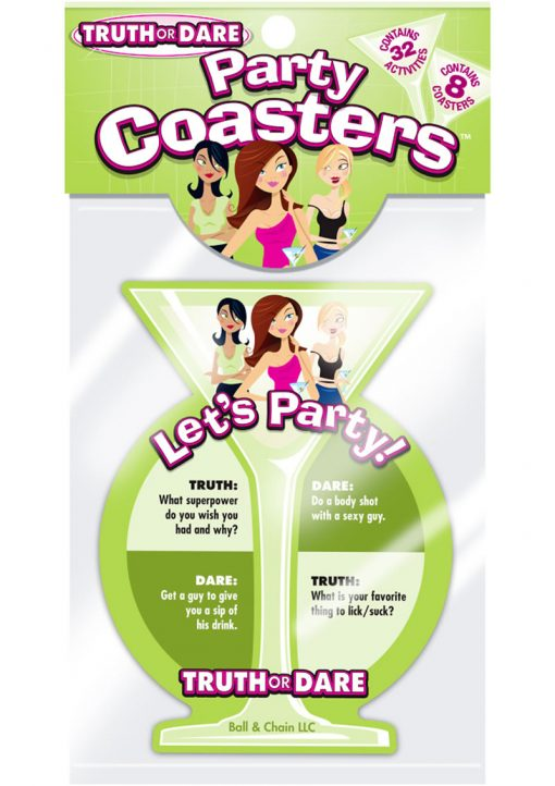 Lets Party Truth Or Dare Party Coasters Party Game