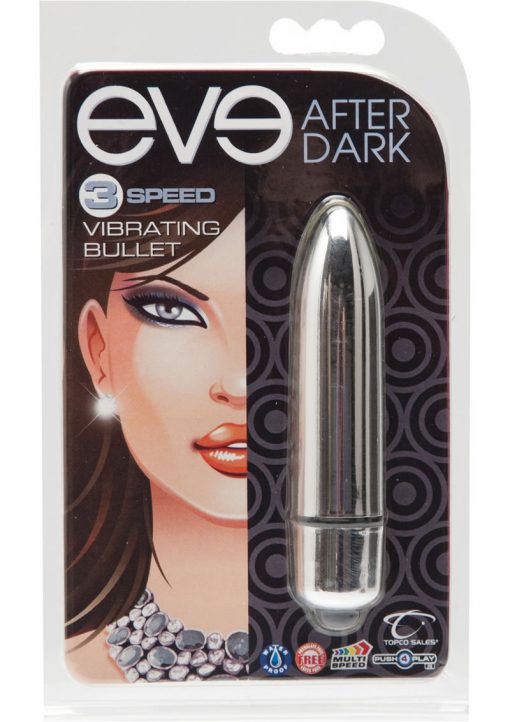 Eve After Dark 3 Speed Vibrating Bullet Waterproof Silver